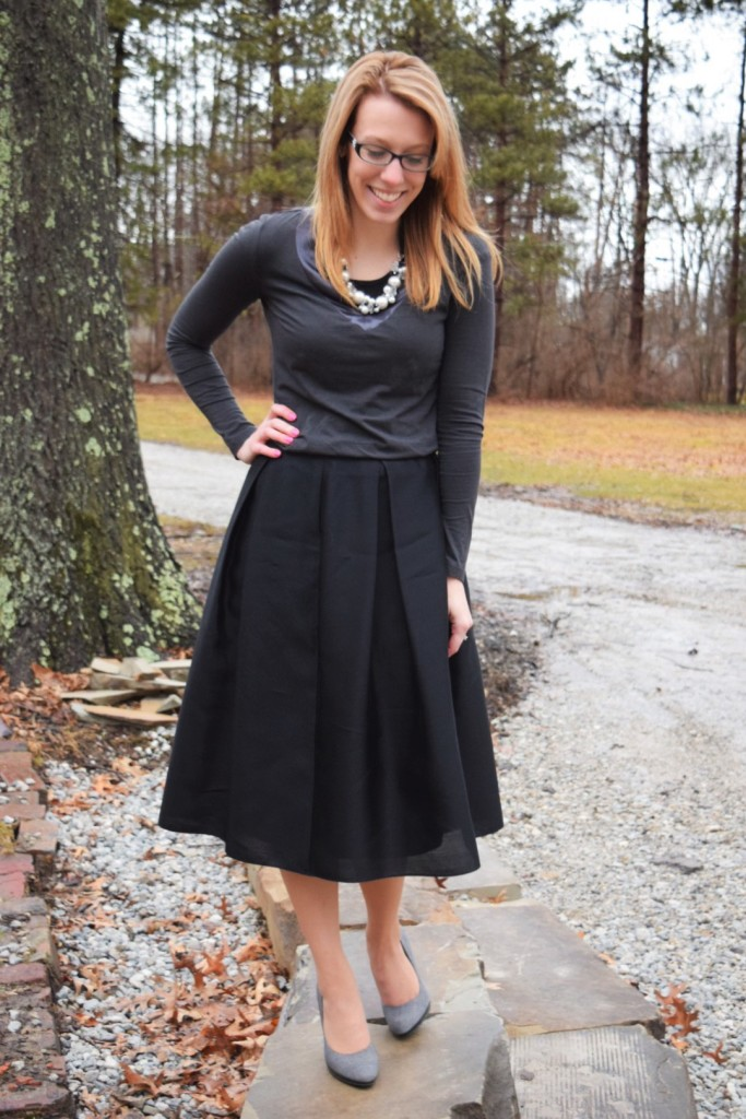 How To: Style the Black Midi Skirt – 3 ways – Modest Blondie