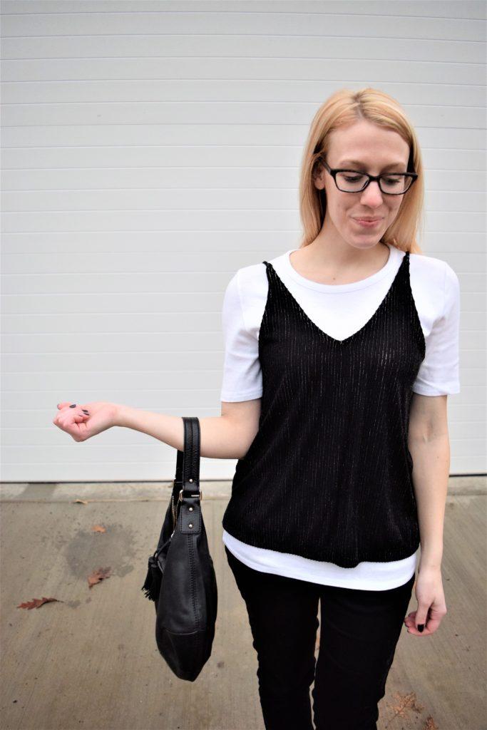 0c0c78931e On Trend  Wear a T-Shirt under a Camisole – Modest Blondie